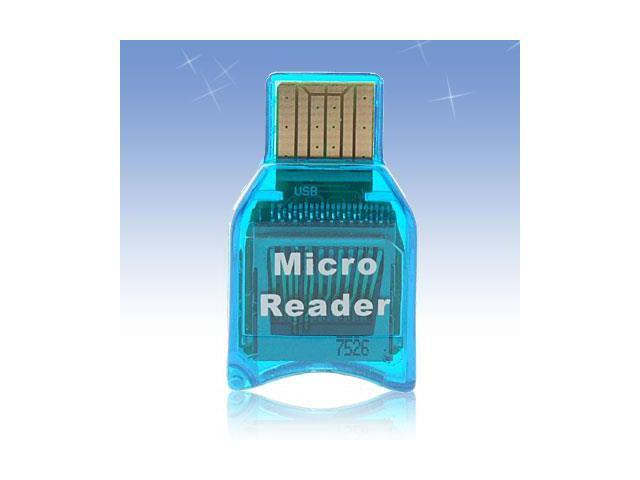 New Mini Smart Compact M2 Micro SD Card Reader Blue