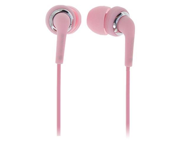 Mp3 Mp4 3.5mm Silicone Earbud In-ear Earphones Pink