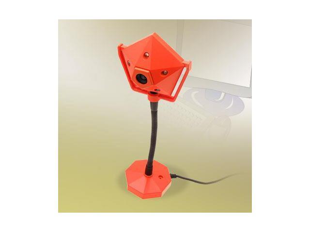 5 LED Orange Searchlight Shaped 480k USB 2.0 PC Webcam