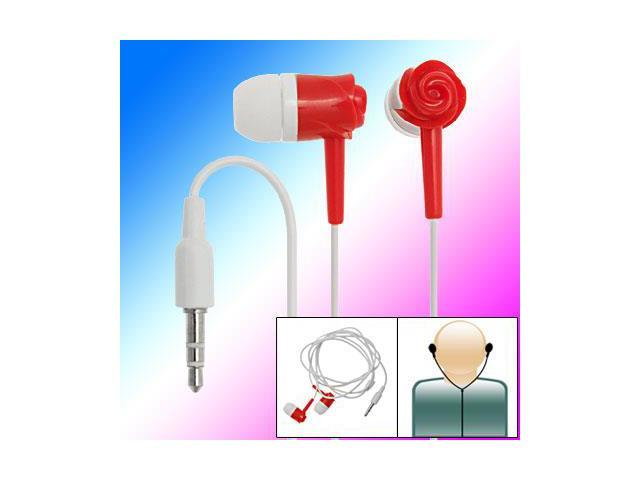 Red 3.5mm Rose Style In-Ear Earphone for Mp3 MP4 Player