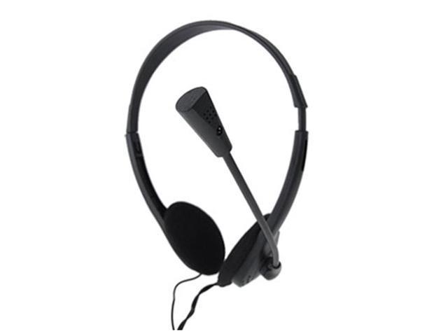 Computer PC 3.5mm Headphone Earpiece w Microphone New