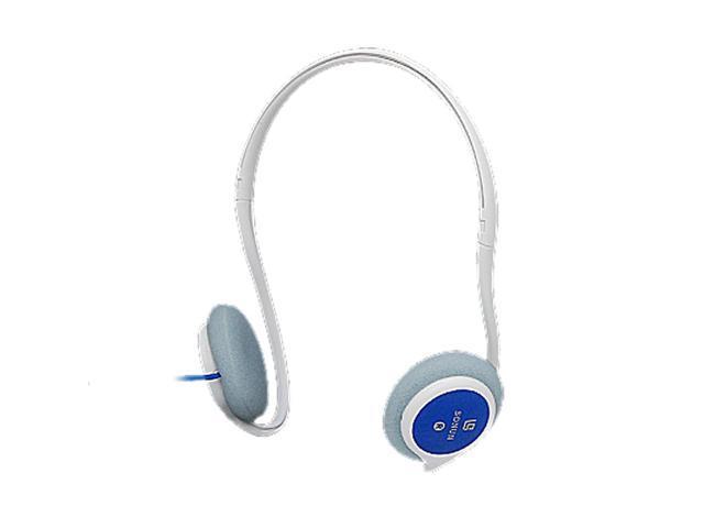 Blue White 3.5mm Plug Stereo Earphone Headphone