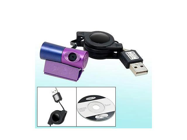 Mini High Speed USB 2.0 Web Cam Webcam Purple Blue
