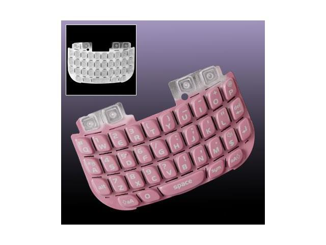 Pink Keypad Buttons Keyboard Qwerty for Blackberry 8520