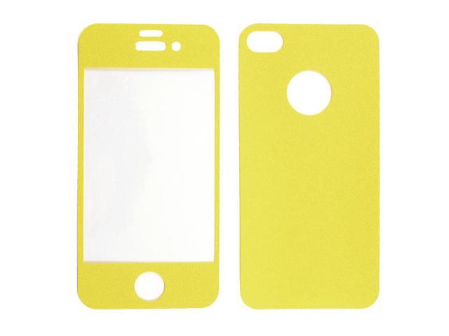 Yellow Vinyl Front Back Decal Sticker Protector for iPhone 4 4G 4S 4GS