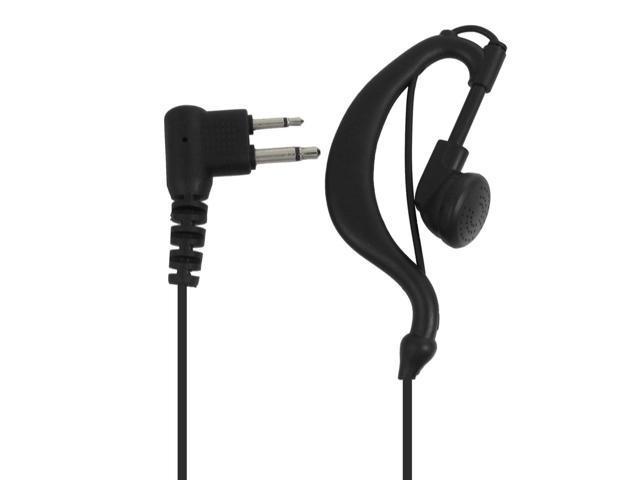Black Cable Earphone Microphone for Kenwood TK Two Way Radio