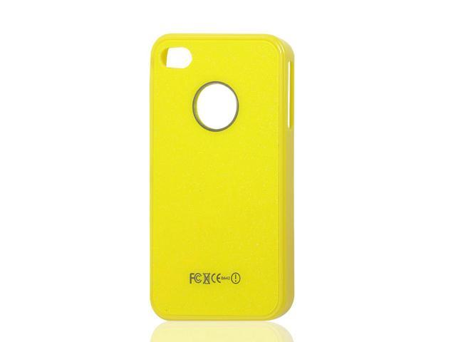 Yellow Hard Plastic Back Case Protector for iPhone 4 4G 4S