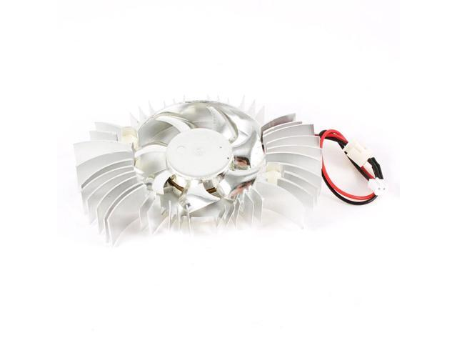 Computer Silver Tone Aluminum VGA Video Card Cooling Fan Heatsink 88mmx52mm 12V