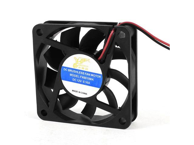 DC 12V 0.16A 60mm x 15mm 2 Pin Connector Computer CPU Cooling Fan Black
