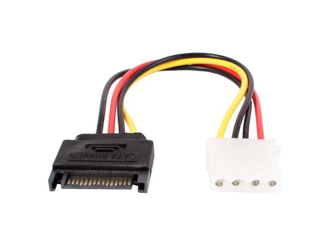 SATA Hard Drive IDE 4Pin Female to 15Pin Male Power Cable 20cm