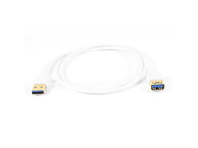 1M White Standard USB 3.0 Type A Male to Female Data Sync Power Cable