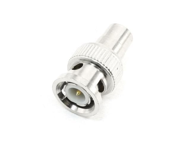 Silver Tone BNC Male to RCA Female Adapter Connector for CCTV Video