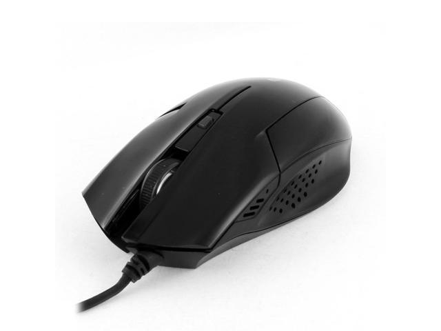 DPI Adjustable USB 2.0 Scroll Wheel Optical Mouse Mice Black for PC Laptop