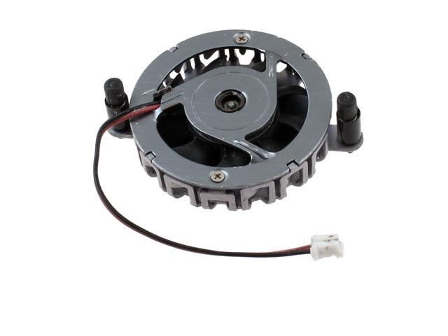 DC 12V 2 Pin 9 Blades Gray Round Shaped Plastic PC Cooling Fan