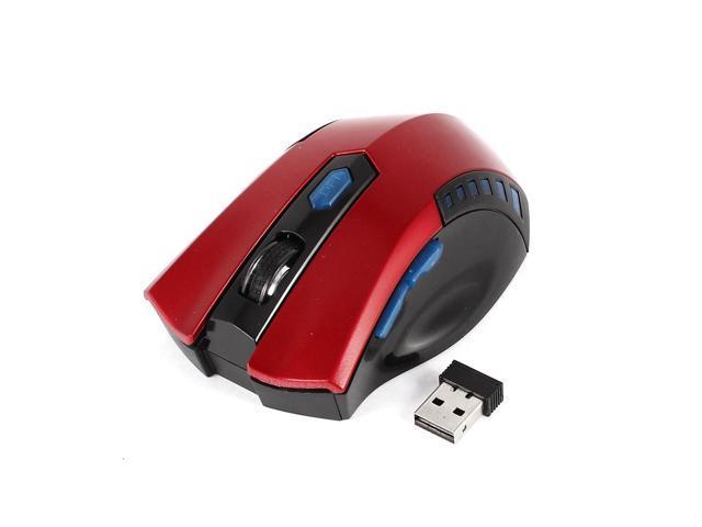 PC Plastic 2.4G 800/1600DPI Wireless Optical Mouse Mice w USB Receiver