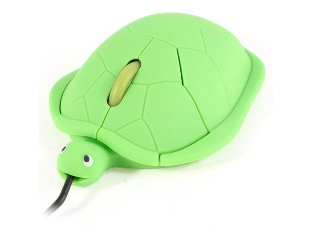 Tortoise Shape USB2.0 3D Scroll Wheel Optical Mouse Mice Green for PC