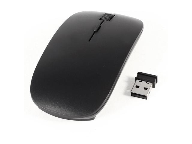 2.4G Wireless 4 Key Optical Mouse Mice Black w Receiver for PC Computer