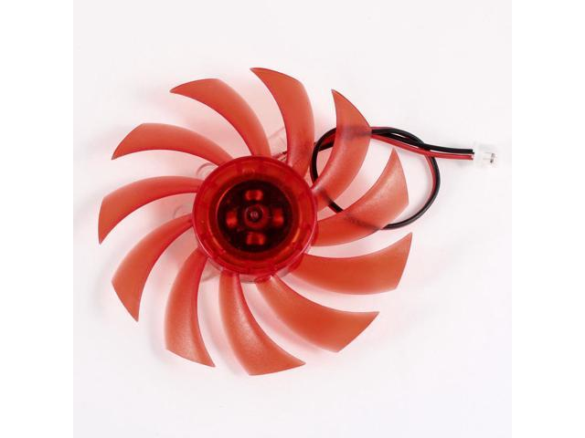75mm 12VDC Red Plastic 11 Blades VGA Video Card Cooling Fan Cooler for Computer