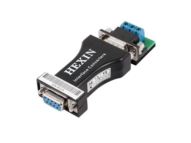 Passive RS232 to RS485 Black Data Communications Interface Adapter Converters