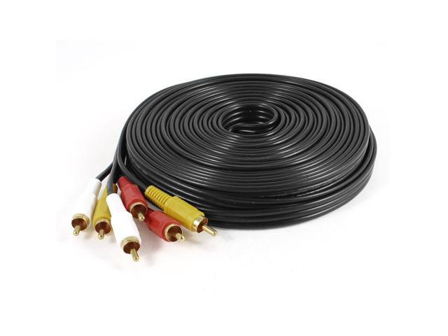 15M 49ft 3RCA Male to 3RCA Male Audio Video Adapter Cable Cord