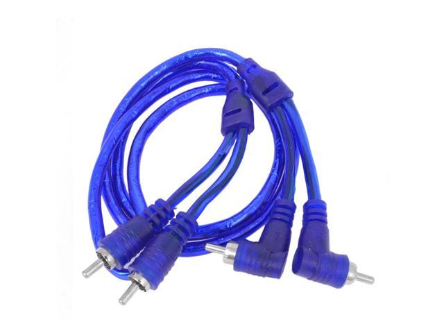 Truck Car Audio System 2 RCA Male to Male Cable Cord Blue 1M 3.3Ft
