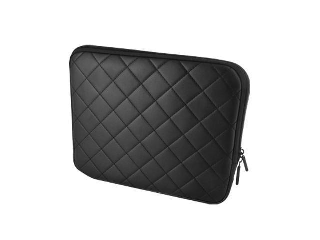 9.7 Inch Black Lozenge Pattern Faux Leather Laptop Bags