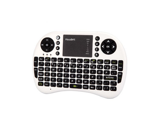 Hausbell ? Mini H7 2.4GHz Wireless Entertainment Keyboard with Touchpad for PC, Pad, Andriod TV Box, Google TV Box, Xbox360, PS3 & HTPC/IPTV(White)