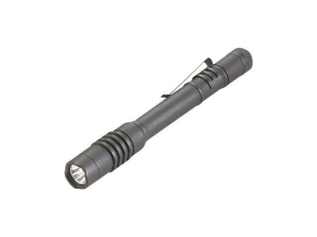 Streamlight Black ProTac Professional Tactical Flashlight With White LED And Removable Pocket Clip (2 AAA Alkaline Batteries Included)