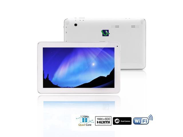 iRulu X10 inch Quad Core Android Tablet PC Android 4.4 KitKat OS, 1024*600 HD Screen Dual Cameras 8GB Storage(White)