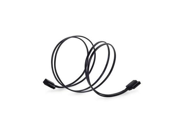SILVERSTONE CP11B-500 Ultra Thin Lateral 90 Degree Angled SATA Cables with Custom Low-Profile Connectors, 500MM