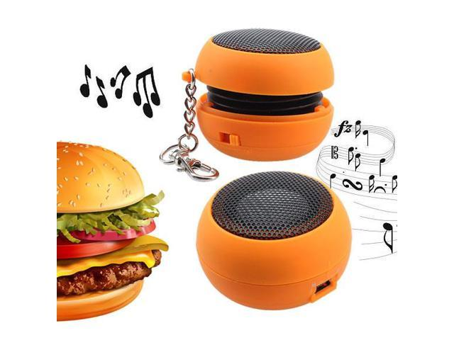 Mini Portable Orange Rechargeable Speaker For PC Laptop iPod MP3
