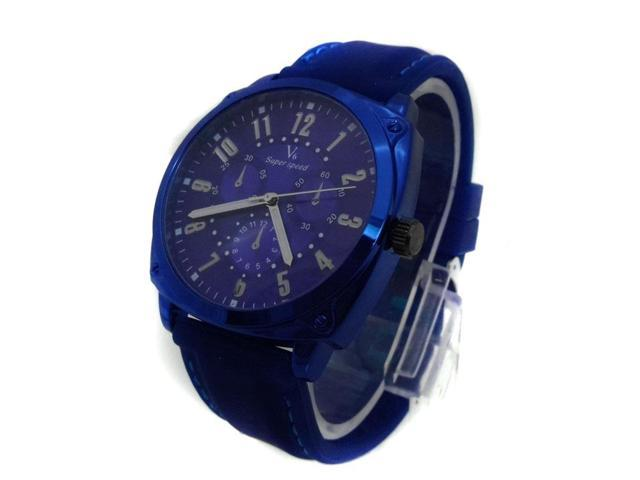 The Silicone Strap Sports Watches Composite Dial With Three Eyes Decoration Popular Watch V6