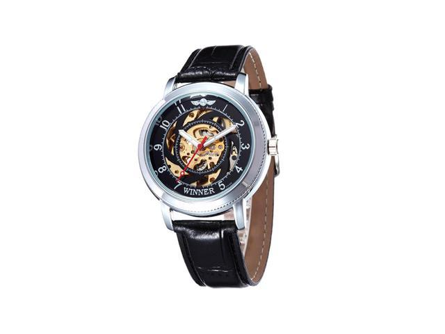 Mechanical watches Fully automatic mechanical watches Popular fashion sports watches WINNER black