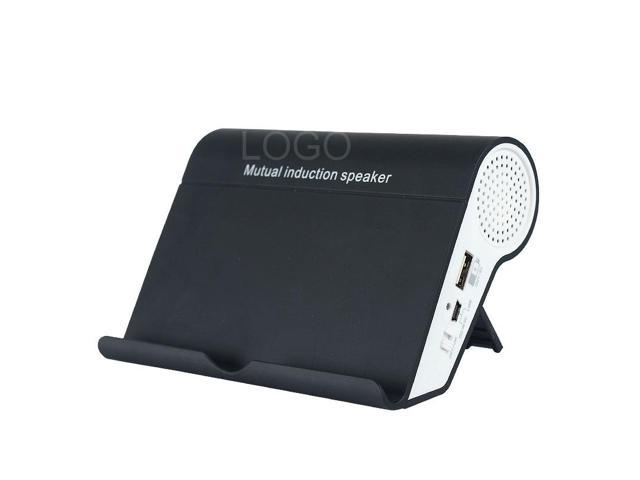 Wireless Loud Speaker Box Mutual Induction Speaker for Mobile Phones Black
