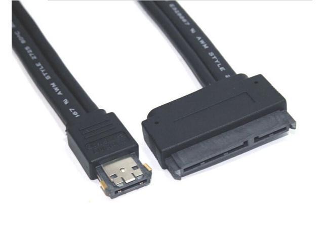 1 m 22Pin SATA rpm Power ESATA / USB combo cable 12V 5V 0.5m