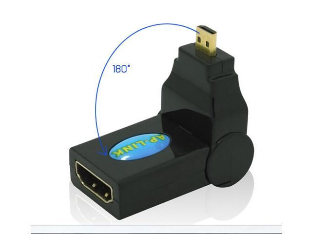 HDMI Female Adapter for Micro HDMI male can be rotated 180 degrees turn micro hdmi female male elbow