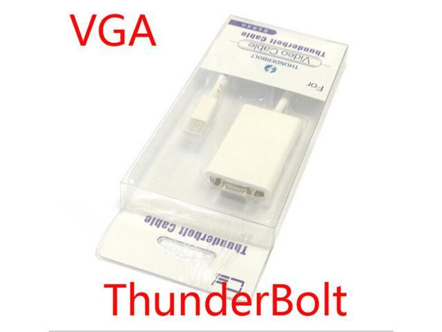 New Macbook Thunderbolt Lightning to VGA display adapter cable CY projector