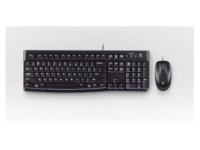 New Logitech MK120 Wired Desktop Keyboard & Mouse Combo