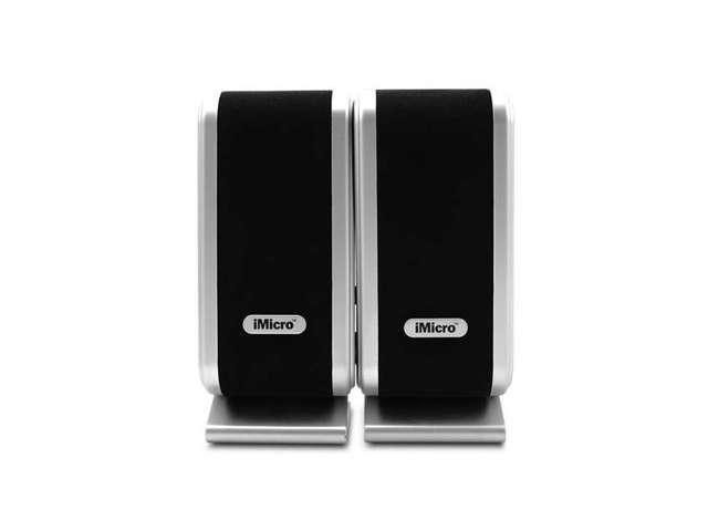 iMicro 2.0 Channel USB2.0 Multimedia Speaker System (Black) New