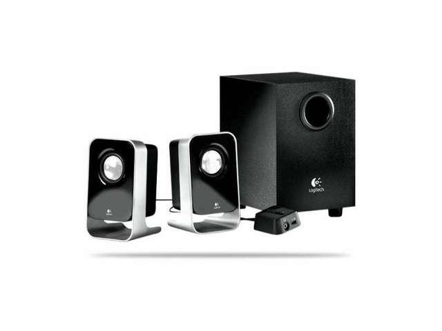 Logitech LS21 7 Watts RMS 7W(FTC) 2.1 Stereo Speaker System Black NEW