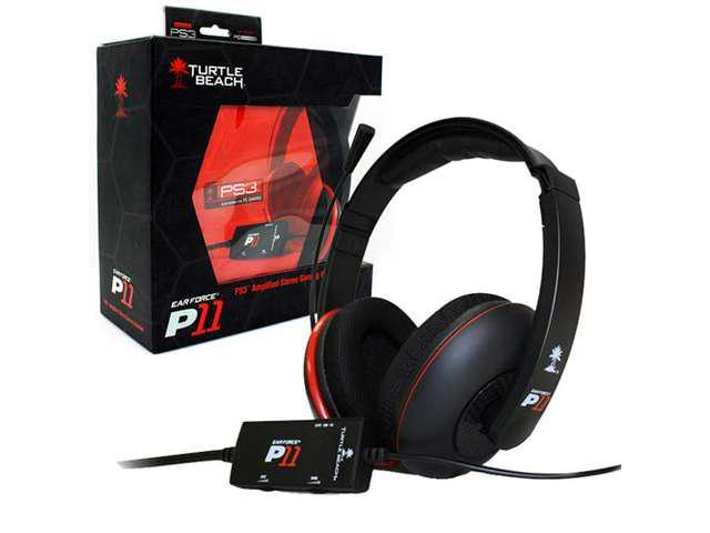 New Turtle Beach Ear Force P11 Amplified Stereo Gaming Headset for PS3 and PC/Mac
