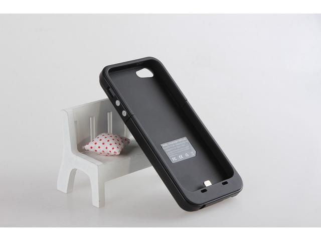 2000mAh External Battery Backup Charger Case Pack Power Bank for iPhone 5--BLACK