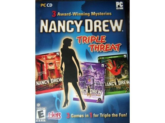 NANCY DREW TRIPLE THREAT FINAL SCENE + 2 MORE GAMES for PC SEALED Shipping From US