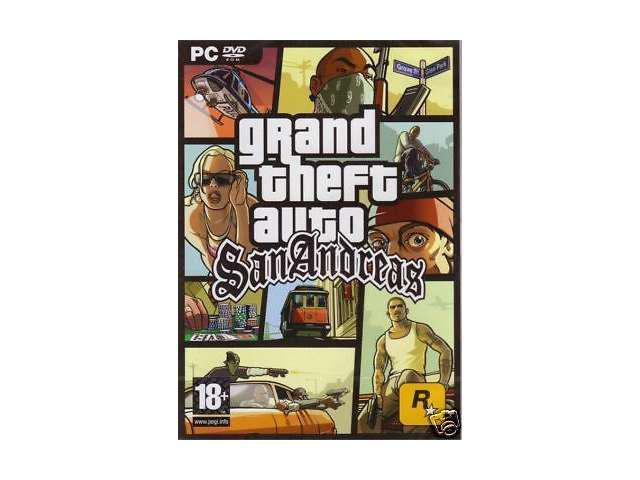 GRAND THEFT AUTO SAN ANDREAS for (PC DVD-ROM) SEALED