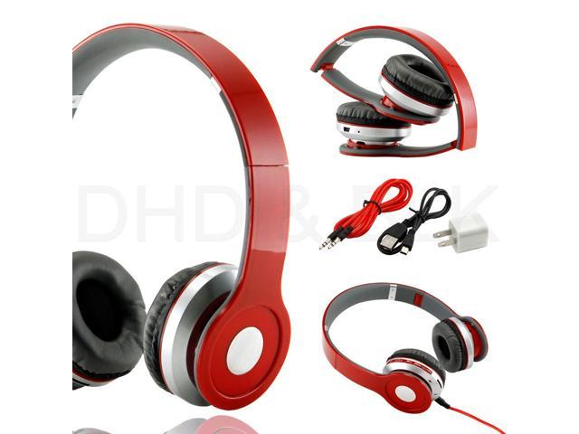 New Wireless-Earphone-Stereo-Bluetooth-Headphone-for-Mobile-Cell-Phone-Laptop-Tablet---RED