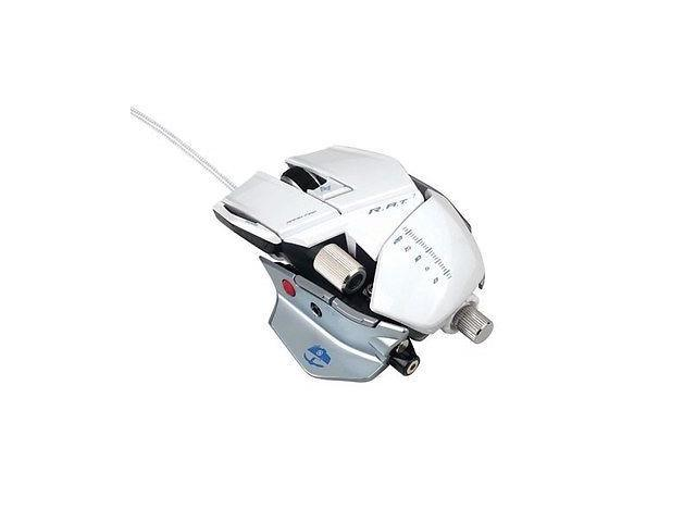 Mad Catz Cyborg R.A.T. 7 Gaming Mouse for PC and Mac - Gloss White Contagion