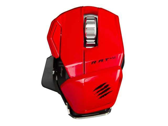 New Mad Catz R.A.T. M Wireless Gaming Mouse for PC, Mac - Red RAT M