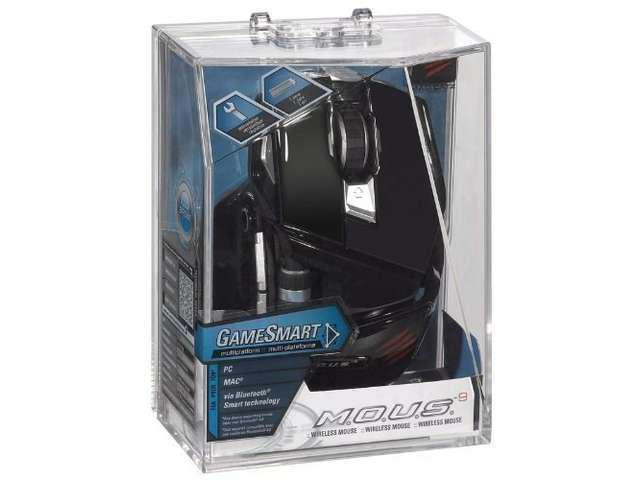 New Mad Catz M.O.U.S. 9 Wireless Gaming Mouse for PC and Mac - Gloss Black