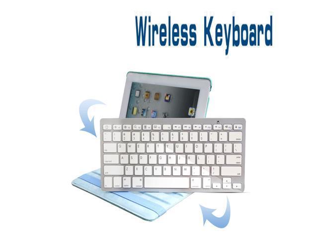 New Bluetooth Wireless Keyboard For Apple iPad 1 2nd 3rd Gen Macbook Mac Laptop PC