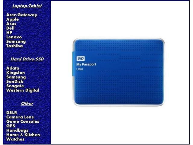 NEW WD My Passport Ultra 1TB Portable External Hard Drive USB 3.0 - Blue